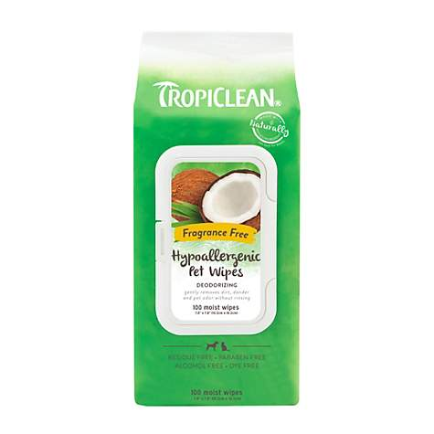 Tropiclean Hypoallergenic Dog Wipes 100 Count