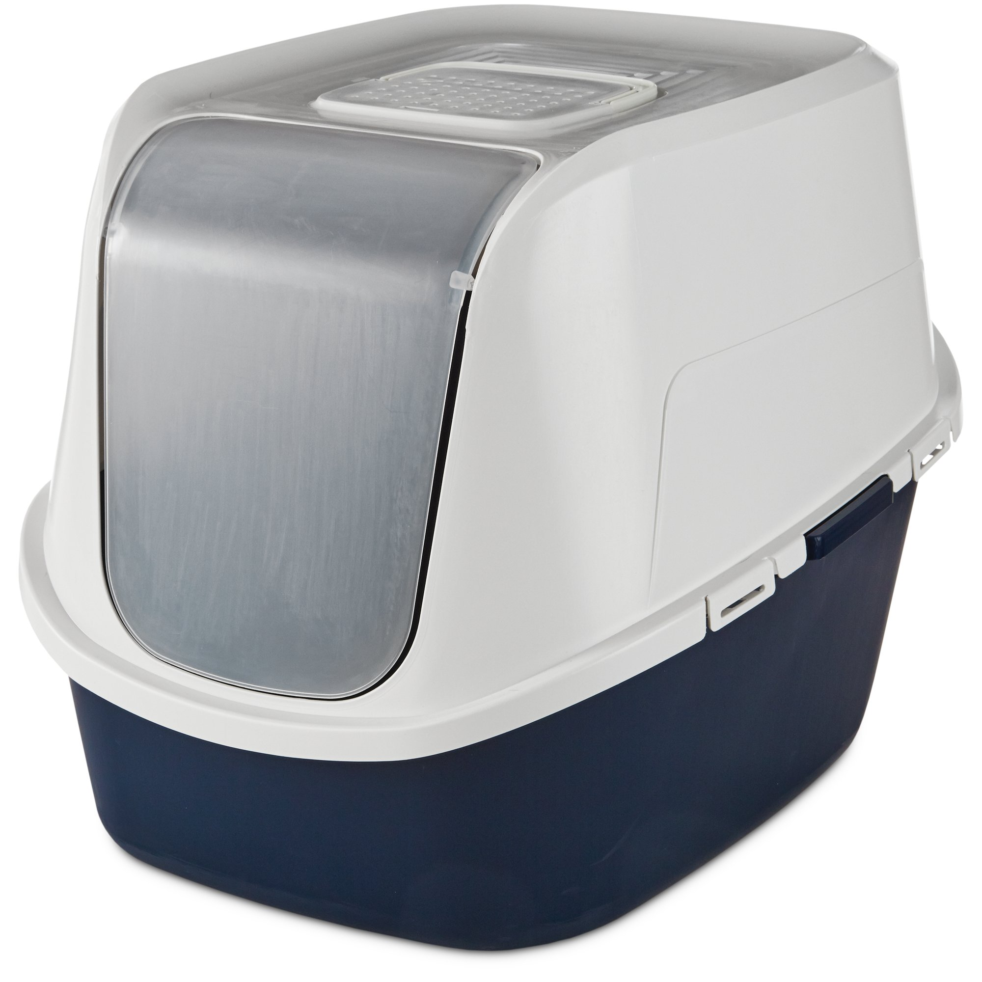 So Phresh Jumbo Enclosed Cat Litter Box in Navy