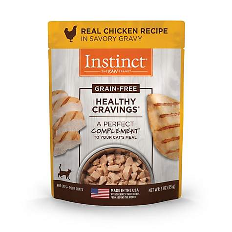 Instinct Healthy Cravings Grain Free Chicken Natural Wet Cat Food Topper by Nature's Variety
