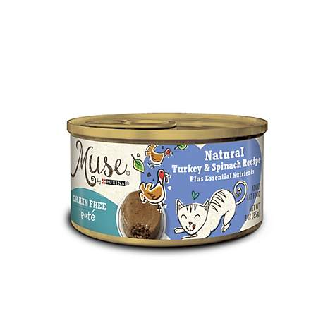 Muse by Purina Natural Turkey & Spinach Recipe Cat Food