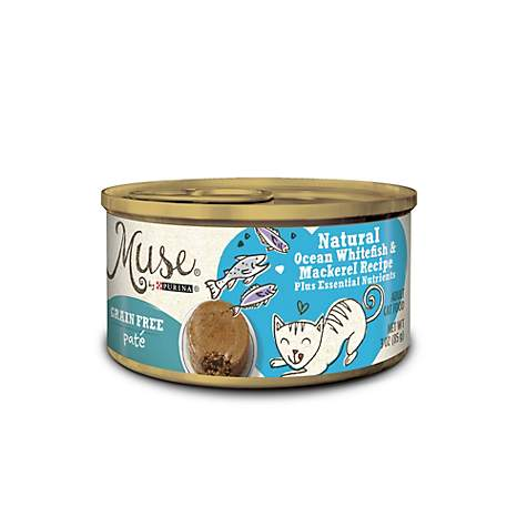 Muse by Purina Natural Ocean Whitefish & Mackerel Recipe Cat Food