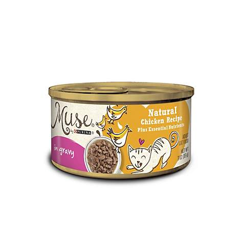 Muse by Purina Natural Chicken Recipe In Gravy Cat Food