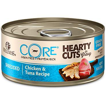Wellness CORE Hearty Cuts Natural Grain Free Chicken & Tuna Wet Cat Food