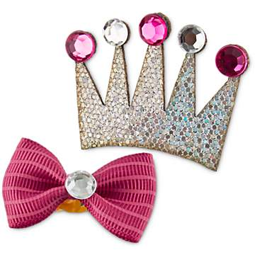 You & Me Dog Birthday Bow and Crown Clip Set