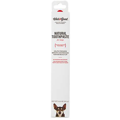 Well & Good Natural Toothpaste for Dogs, Peanut Butter Flavor