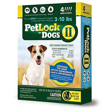 PetLock II Flea Treatment for Dogs 3 to 10 lbs.