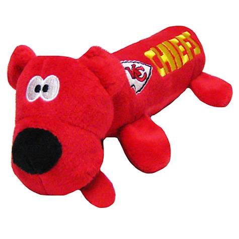 Pets First Kansas City Chiefs Tube Toy For Dogs