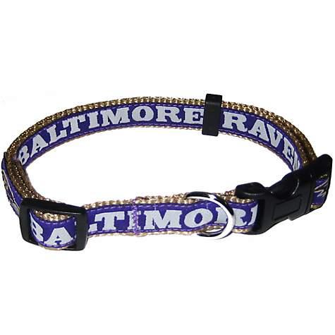 371808531 Pets First Baltimore Ravens NFL Dog Collar
