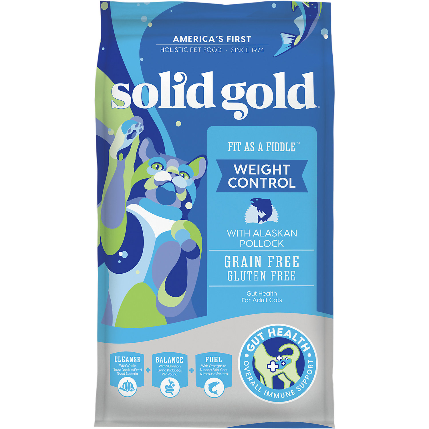 Solid Gold Fit As A Fiddle Alaskan Pollock Weight Control Adult Dry Cat Food
