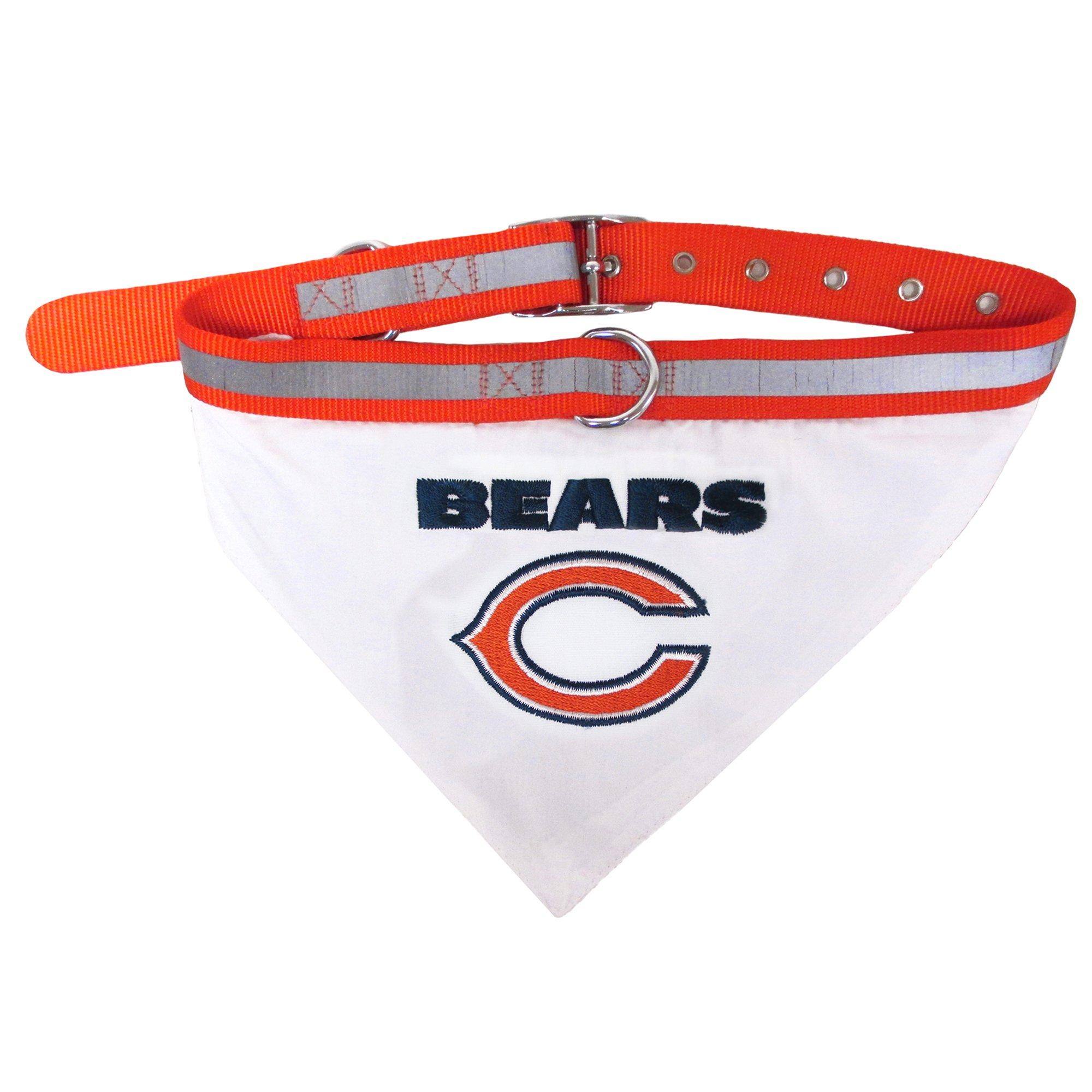 Image of Pets First Chicago Bears Collar Bandana, Large