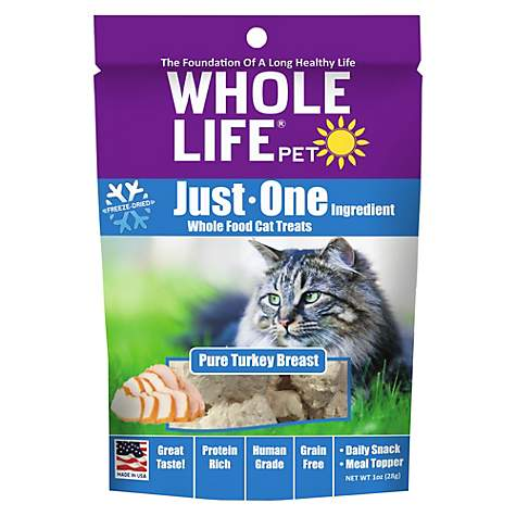 Whole Life Pet Pure Turkey Freeze-Dried Cat Treats