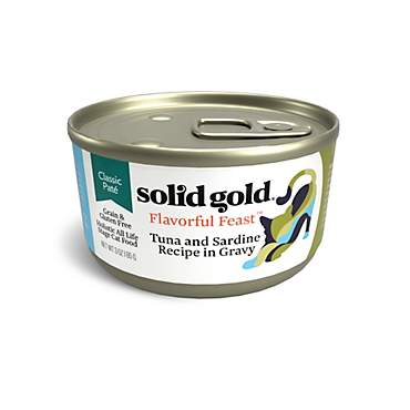 Solid Gold Flavorful Feast Tuna & Sardine Pate in Gravy Holistic Grain Free Canned Cat Food for All Life Stages