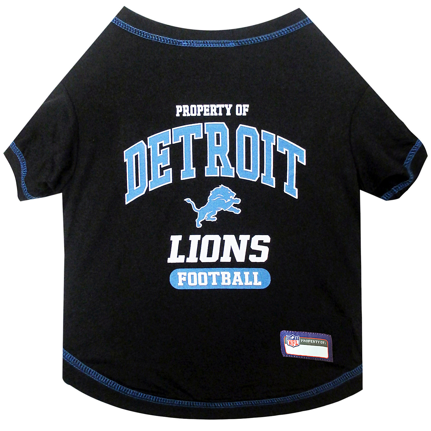 Pets First Detroit Lions T-shirt, Large