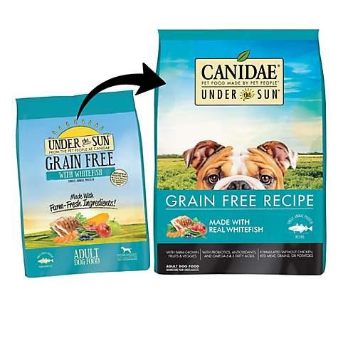 Wainwrights Grain Free Dog Food >> Canidae Under The Sun Grain Free With Whitefish Adult Dry Dog Food 23 5 Lbs