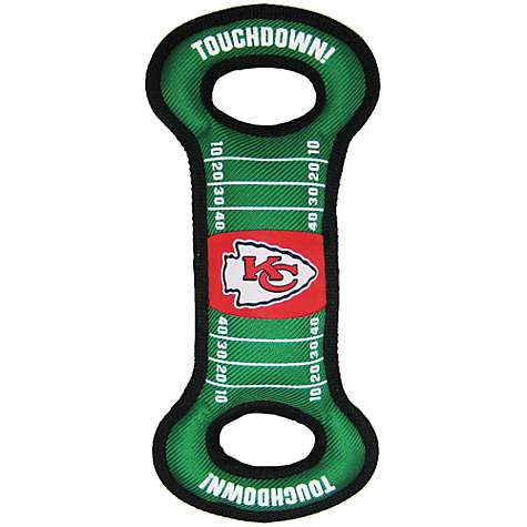 Pets First Kansas City Chiefs NFL Field Tug Dog Toy