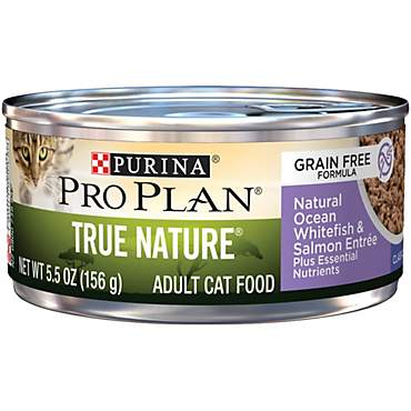 Purina Pro Plan True Nature Adult Grain Free Natural Ocean Whitefish & Salmon Entree Classic Cat Food