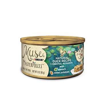 Muse by Purina MasterPieces Natural Duck Recipe accented with Spinach and Sweet Potato Cat Food