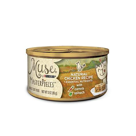 Muse by Purina MasterPieces Natural Chicken Recipe accented with Carrots & Spinach Cat Food