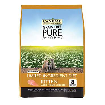 CANIDAE Grain Free PURE Foundations Kitten Formula Made with Chicken