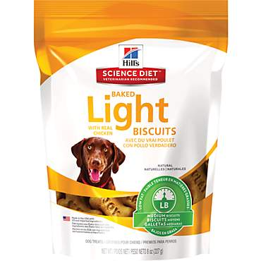 Hill's Science Diet Baked Light Biscuits with Real Chicken Medium Dog Treats