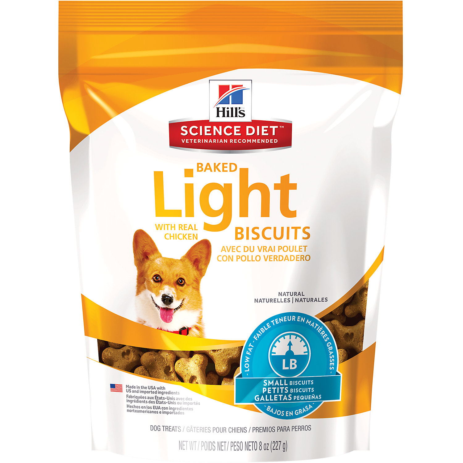 Hills Science Diet Baked Light Biscuits With Real Chicken Small Dog Treats 8 Oz Bag