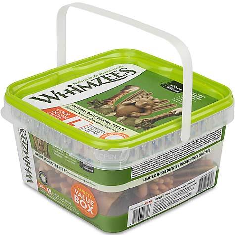Whimzees Large Variety Dog Chews Container