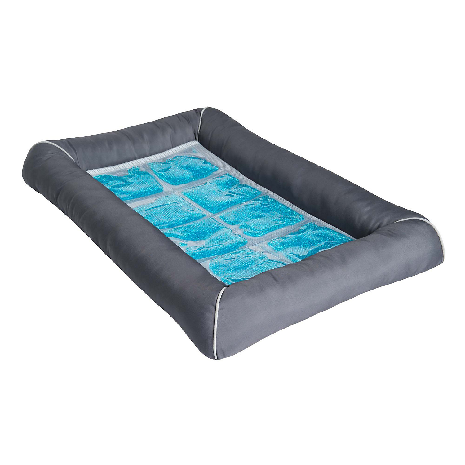 Pet Therapeutics Grey TheraCool Cooling Gel Pet Bed
