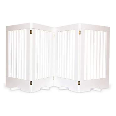 Cardinal Gates 4-Panel Freestanding Pet Gate, White