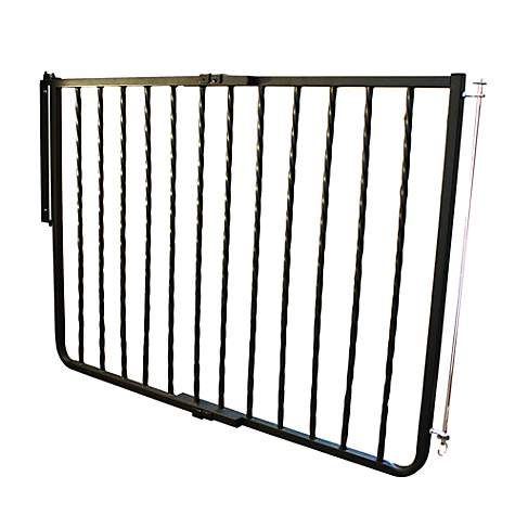 Cardinal gates wrought iron decor gate black petco for Iron accents promo code