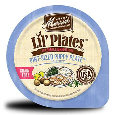 Merrick Lil' Plates Grain Free Pint-Sized Puppy Plate Small Breed Wet Puppy Food