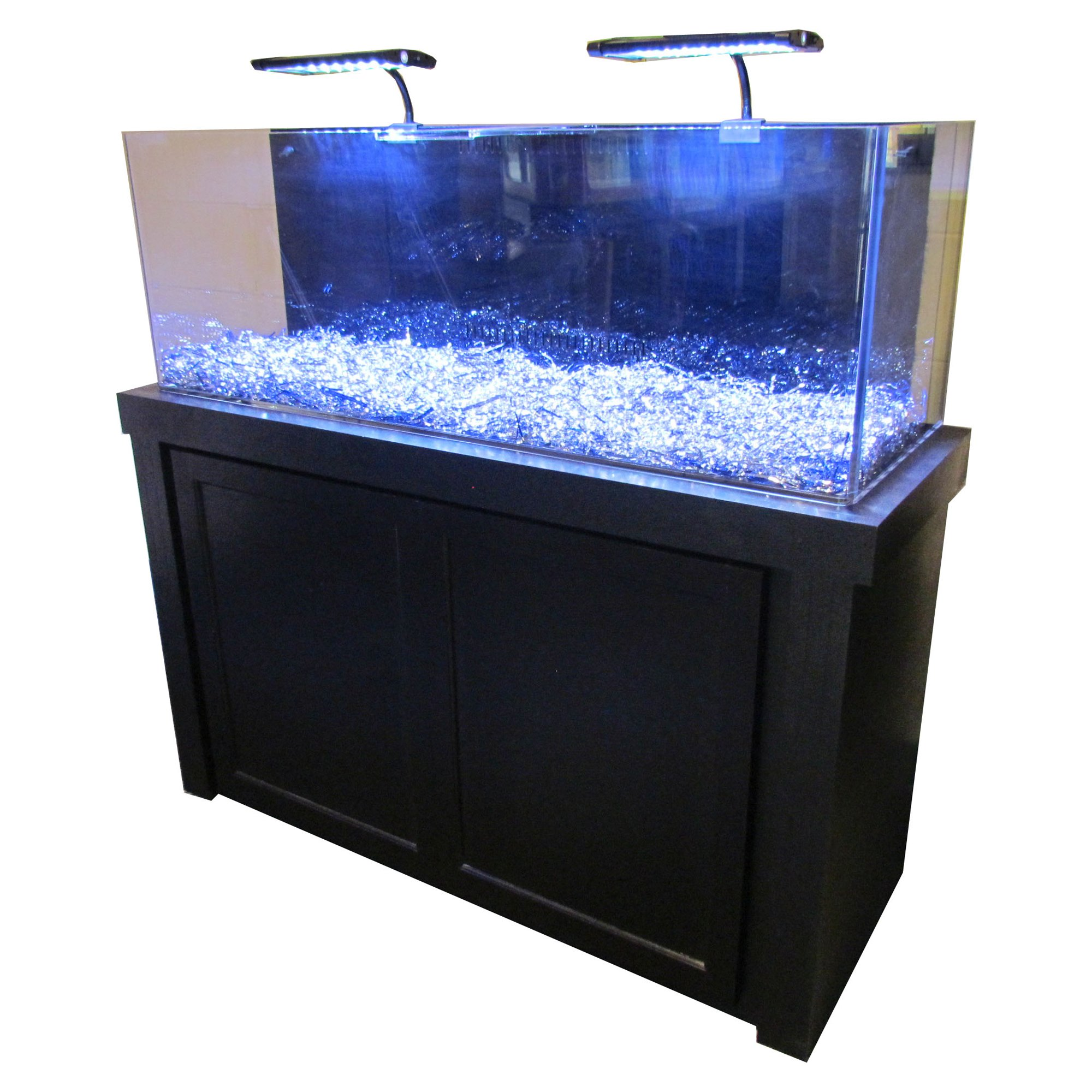 50 Gallon Black Fusion Series Cabinet & Tank bo