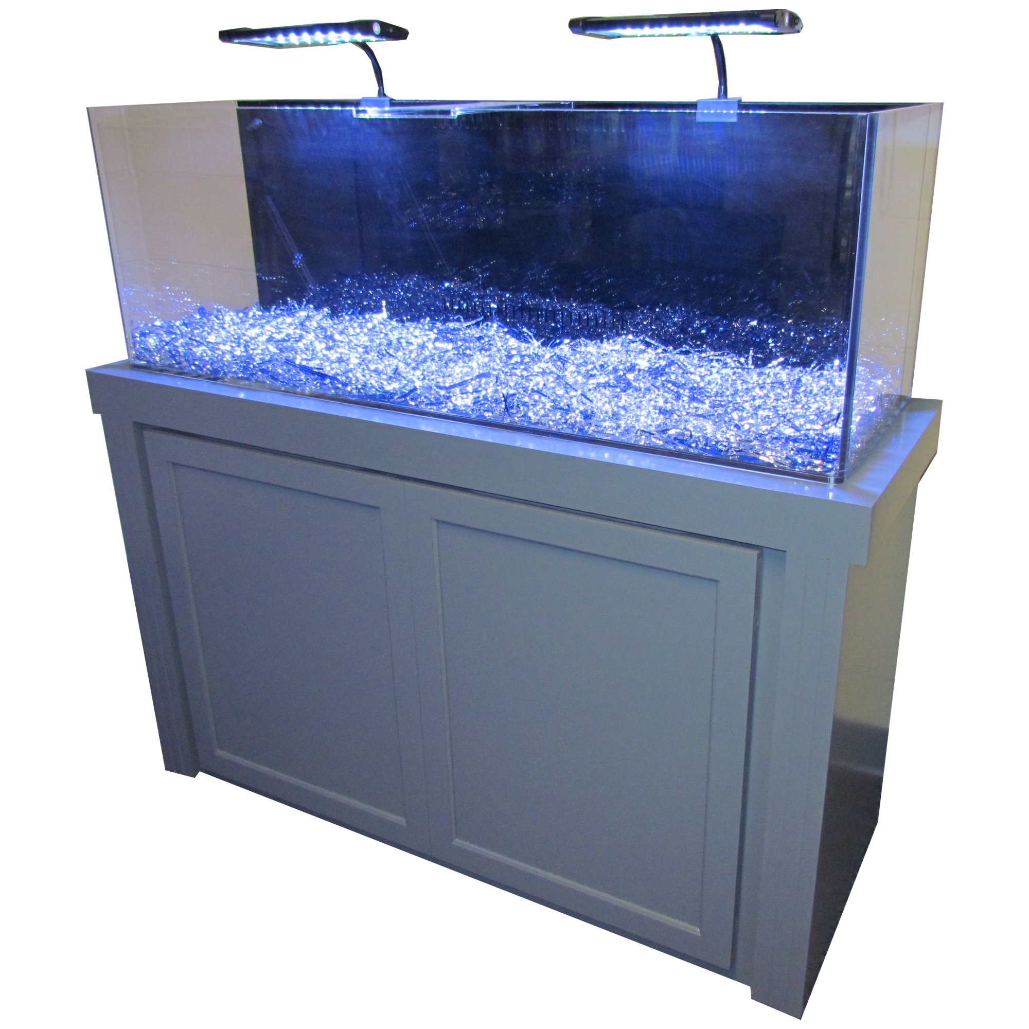 50 Gallon Grey Fusion Series Cabinet & Tank bo