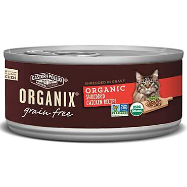 Castor & Pollux Organix Grain Free Organic Shredded Chicken Recipe Wet Cat Food