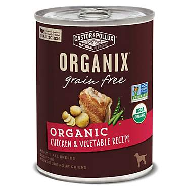 Castor & Pollux Organix Grain Free Organic Chicken & Vegetable Recipe Wet Dog Food