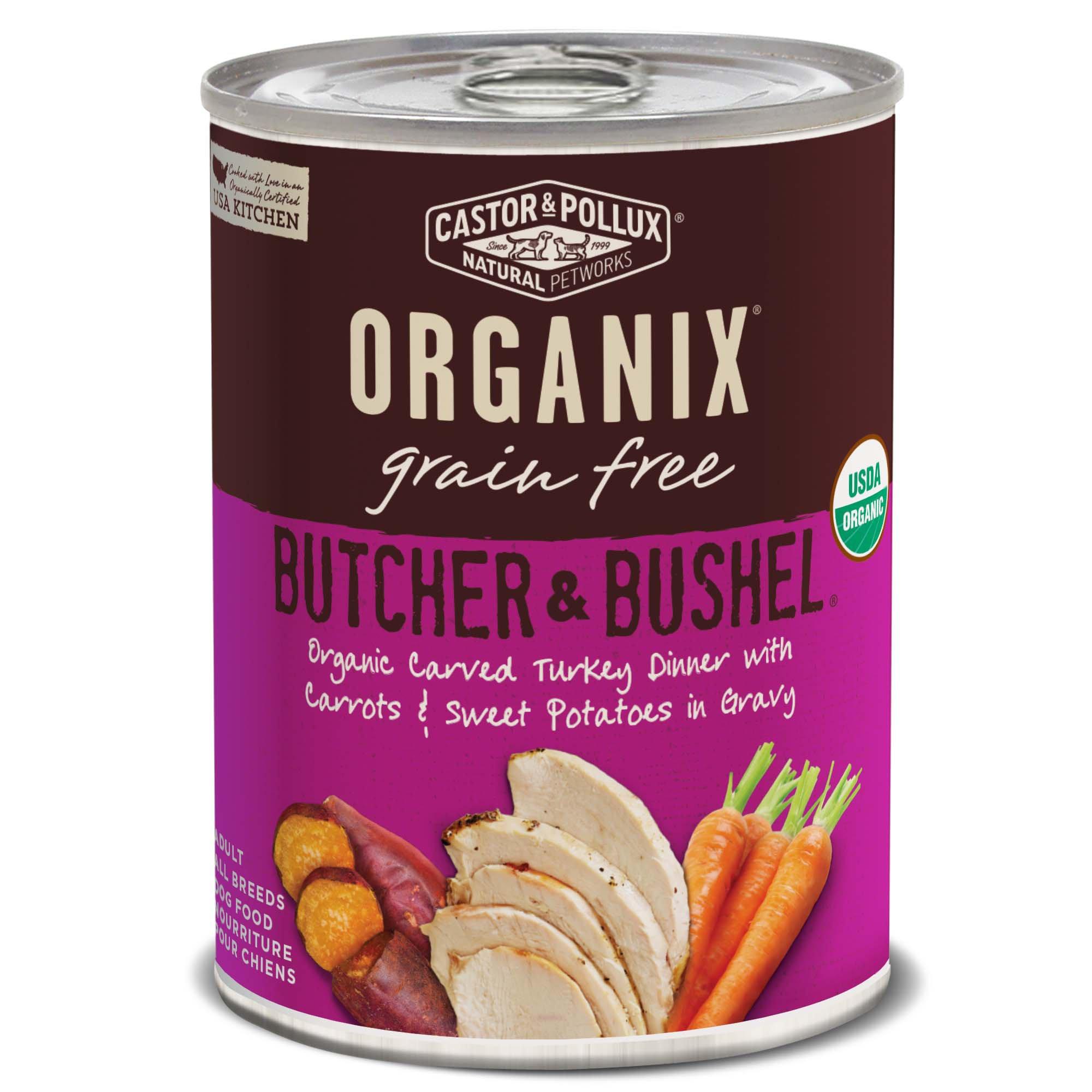 Image of Castor & Pollux Organix Butcher & Bushel Organic Carved Turkey Dinner Wet Dog Food, 12.7oz.,Case of 12, 12 X 12.7 OZ