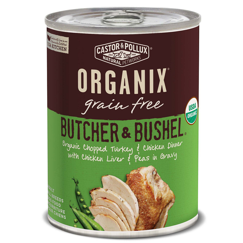 Image of Castor & Pollux Organix Butcher & Bushel Grain Free Organic Chopped Turkey & Chicken Dinner Wet Dog Food