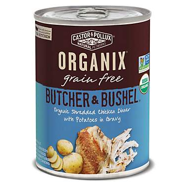 Castor & Pollux Organix Butcher & Bushel Organic Tender Chicken Dinner with Potatoes Wet Dog Food