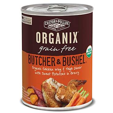 Castor & Pollux Organix Butcher & Bushel Organic Chicken Wing & Thigh Dinner Wet Dog Food