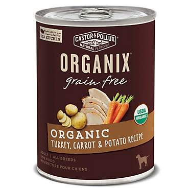 Castor & Pollux Organix Grain Free Organic Turkey, Carrot & Potato Recipe Wet Dog Food
