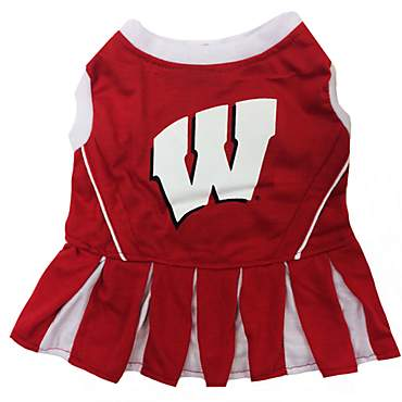 Pets First Wisconsin Badgers Cheerleading Outfit