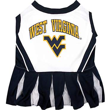 Pets First West Virginia Mountaineers Cheerleading Outfit