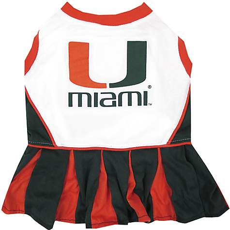 Pets First Miami Hurricanes Cheerleading Outfit