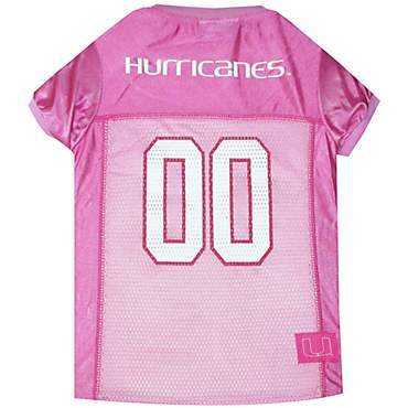Pets First Miami Hurricanes Pink Jersey