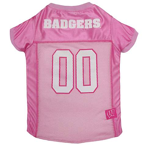 Pets First Wisconsin Badgers Pink Jersey