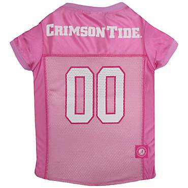 Pets First Alabama Crimson Tide Pink Jersey