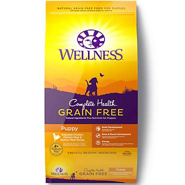 Wellness Complete Health Grain Free Puppy Deboned Chicken, Chicken Meal & Salmon Meal Recipe Dry Dog Food