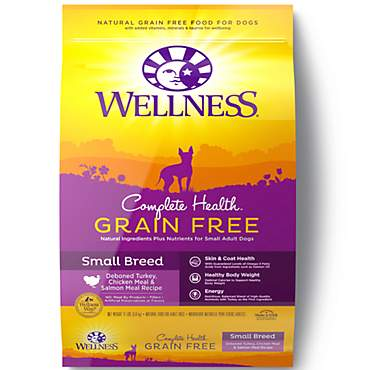 Wellness Complete Health Grain Free Small Breed Deboned Turkey, Chicken Meal & Salmon Meal Recipe Dry Dog Food