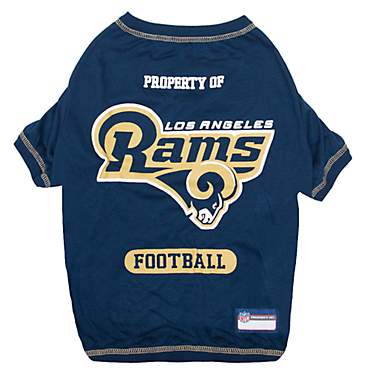 big sale 136a2 4ac05 Pets First Los Angeles Rams T-Shirt, X-Small