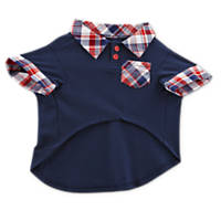 Patriotic Pets Red, Plaid and Blue Dog Polo Shirt