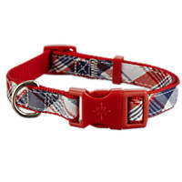 Patriotic Pets Red, Plaid and Blue Dog Collar